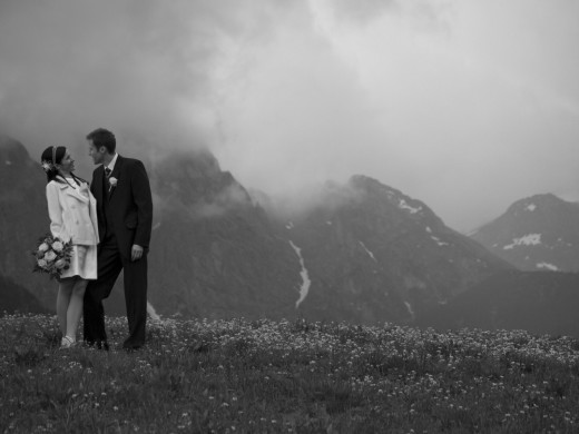 sesja ślubna podczas deszczu w Zakopanem