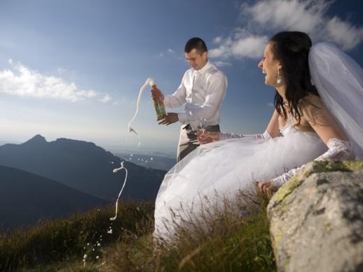 szampan na Kasprowym fot Wojciech Wojas