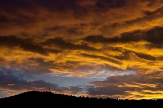 chmury nad Gubałówką