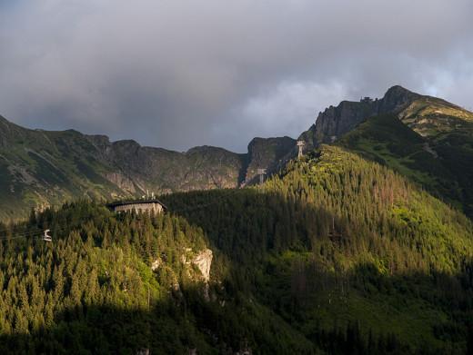 Kolejka na Kasprowy Wierch widok z Kalatówek